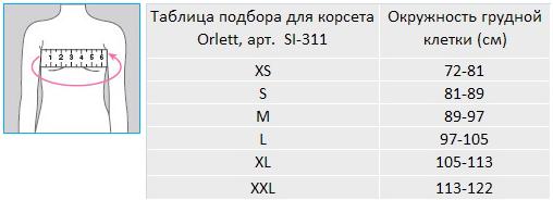 размеры orlett si-311